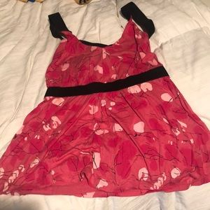 Urban outfitters straps back patterned top